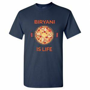biryani is life foodie t shirt men navy
