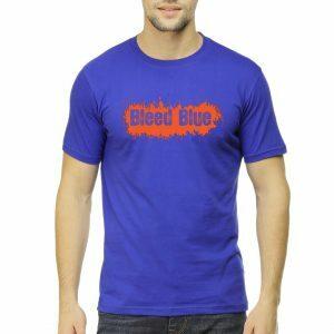 bleed blue men round neck t shirt royal blue front