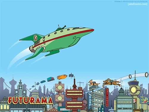 futurama space ship min