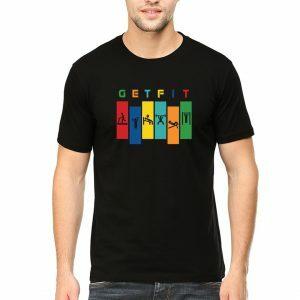 get fit men round neck t shirt black front 300x300 1
