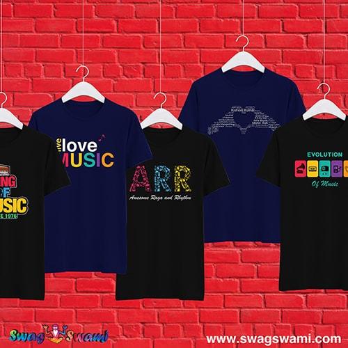 swag swami music t shirts india